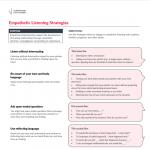 Turnaround for Children Toolbox: Empathetic Listening Strategies